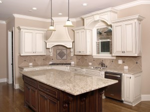 Alpharetta Luxury Kitchen with Granite topped Island 1